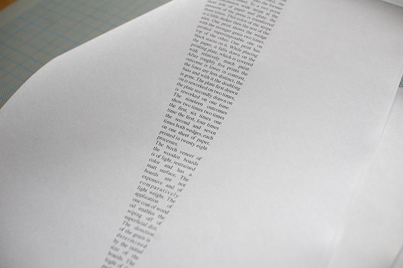 Wedge, in writing
